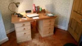 Large Antique (Edwardian) Pine Desk
