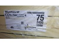 1 Sheet 75mm Kingspan Recticel Celotex Insulation Boards 2.4x1.2m - More Available