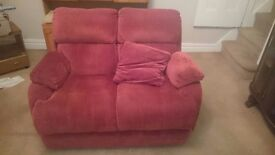 2 seater sofa and an electric reclining chair