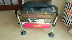 fishing seat box with pole cushion & octoplus legs price reduced