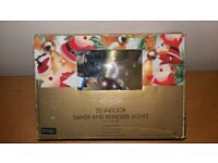 Dazzlers 20 Indoor Santa and Reindeer Lights w Clear Bulbs & Spares - Working