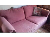 Sofabed Good condition Teracotta cotton.Bed in very good condition.Cover a bit faded Very sturdy