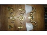 2 Arm Antique Victorian Style Brass Double Wall Sconces Lights Lamps Retro