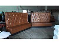 sofa bench, restaurant furniture