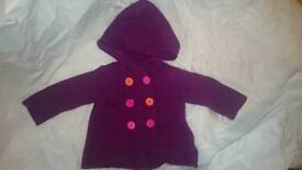 Thick knit double breasted cardi 3-6 months