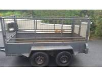 8x4 steel meshside trailer