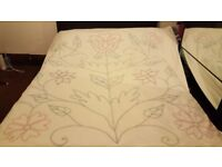 100% COTTON HAND EMBROIDERED DOUBLE BED DUVET COVER SET (+2 PILLOW CASES)
