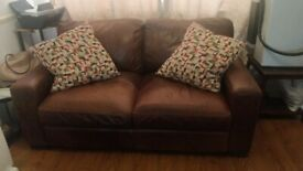 Authentic Leather Sofa (Brown)