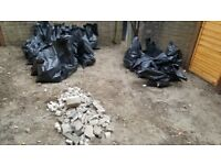 Free Rubble - Over half a tonne (850kg ish) bagged for easy moving