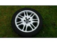 Volvo alloy wheel and tyre