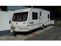 Bailey Pageant Bordeaux 2006 4 berth fixed rear bed with motor mover and full awning.