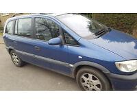 Vauxhall Zafira Elegance, 1.6l, Petrol, 5 Door, 7 seater, MOT Sept. 2017.