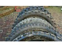 Off road motocross tyres.