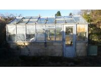 Aluminium green house 15ftx8ft