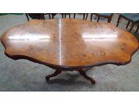 Inlaid wood Italian dining table