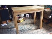 Ikea extendable dining table.