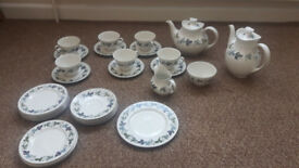 Royal doulton burgundy coffee tea set Porcelain