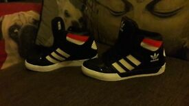 Adidas Black,Red And White Womens size 5uk