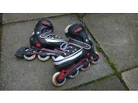 Inline skates, SFR, adjustable, sizes UK 3-6