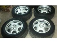 "16"" mercedes 5x112 alloys with good tyres"