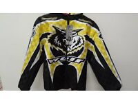 wulfsport jacket motocross motox quad kids youth junior yellow size 32 approx age 11