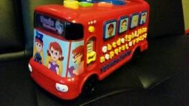 Child's interactive button toy box