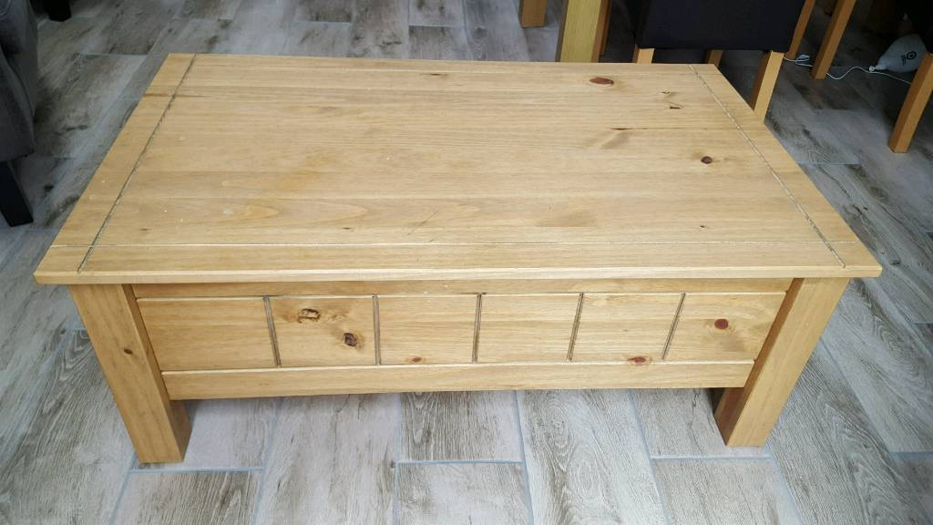 Coffee Table Toy Chest.Solid Wood Storage Coffee Table Toy Box In York North Yorkshire Gumtree