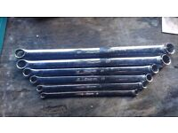 Snap on long reach spanner's