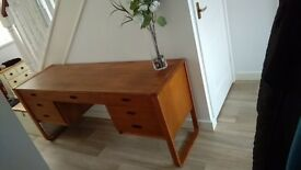 VINTAGE MID 20TH C SCANDINAVIAN UNIFLEX DESK OR DRESSING TABLE
