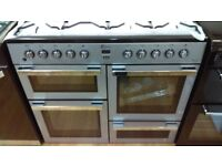 FLAVEL MLN10FRS Dual Fuel Range Cooker - Silver & Chrome ex display rrp 749.99