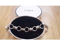 Links of London Aurora large link Tri coloured bracelet