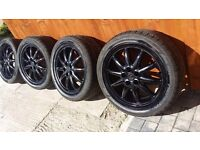 17 inch Audi alloys with good tyres 5 stud 5 × 100.