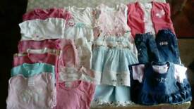 Baby girl summer clothes bundle 6-9 months