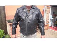 Skintan Leather Motorbike Jacket custom chopper bopper harley