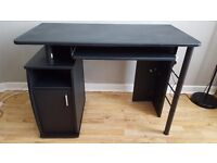PIRANHA ELVER Graphite Black Effect Desk