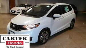 2015 Honda Fit EX-L Navi + LEATHER + SUNROOF + CERTIFIED 7YRS/16