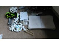 wii fit games consoller, woth controllers, racket,wheel COLLECTION ONLY
