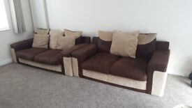 2 sofa's in excellent condition (1 large and standard)