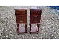 PAIR OF SOLID WOOD BEDSIDE TABLES