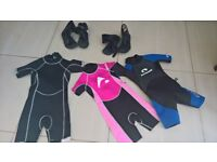 kids wet suits and booties age 5/6