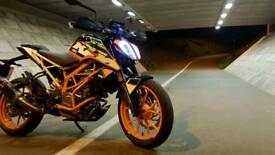 2017 KTM Duke 390 low mileage, akropovic exhaust + extras