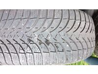 VW Golf Alloy wheels with winter tyres .