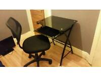 Glass Desk & Office Chair