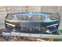 BMW 4 SERIES - F32 F33 F36 - FRONT BUMPER - COMPLETE - MSPORT