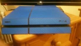 PlayStation 4 (500gb) + Camera + 2 Controller + GTA V + FIFA 17 + few other games + custom blue skin