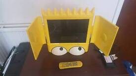 """Simpsons LCD TV 15"""" With Remote Rare Collectible"""
