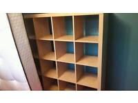 Ikea box's 4x4 shelving