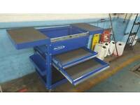 Never used (snap on)blue point tool box ,cart style.