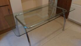 Glass Table Seats 6/8 people