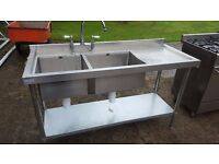 Commercial Double Bowl Sink.